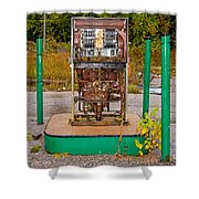 Broken And Abandoned Fuel Pump Shower Curtain