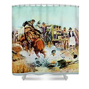Bronc For Breakfast Shower Curtain
