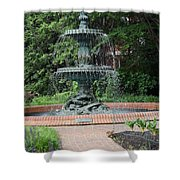 Bronze Fountain Annapolis Shower Curtain