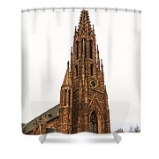 Brownstone Church Shower Curtain