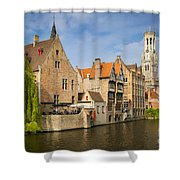 Bruges Canals Shower Curtain