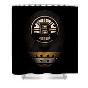 Bruins Jersey Mask Shower Curtain