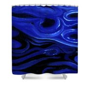 Brush Strokes In Blue Shower Curtain