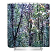 Bubble Trees Shower Curtain