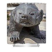 Badger Statue 4 At Uw Madison Shower Curtain