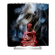 Buddha In Smoke Shower Curtain