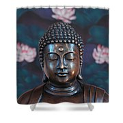 Buddha Statue Denver Shower Curtain