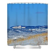 Building Ice Shower Curtain