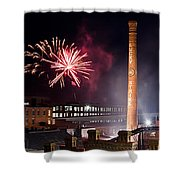 Bull Durham Fireworks Shower Curtain