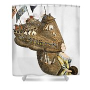 Bunker Hill: Cartoon, 1776 Shower Curtain
