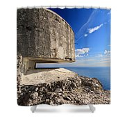 Bunker Over The Sea Shower Curtain