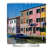 Burano, Venice Shower Curtain