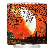 Burning Leaves Shower Curtain