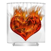 Burning Love  Brennende Liebe Shower Curtain