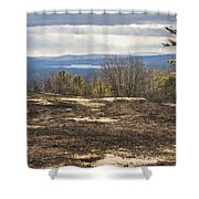 Burnt Blueberry Field In Maine Shower Curtain