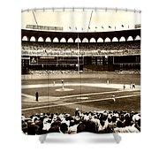 Busch Stadium - St Louis 1966 Shower Curtain