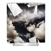 Business Papers Falling In The Sky Shower Curtain