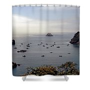 Busy Harbor Shower Curtain