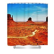 Buttes Shower Curtain