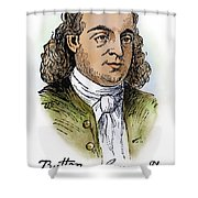 Button Gwinnett (1735-1777) Shower Curtain