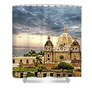 Clouds Over Cathedral Shower Curtain