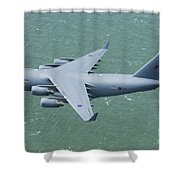 C-17 Of 99 Sqn Shower Curtain