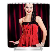 Cabaret Show Girl Performer In The Stage Spotlight Shower Curtain