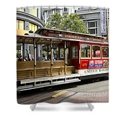 Cable Car On Turntable San Francisco Shower Curtain