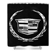 Cadillac Emblem Shower Curtain