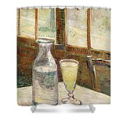Cafe Table With Absinth  Shower Curtain