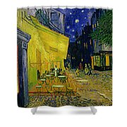 Cafe Terrace Arles Shower Curtain