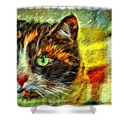 Calico Kitty Shower Curtain