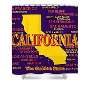 California State Pride Map Silhouette  Shower Curtain