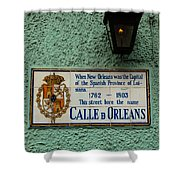 Calle Orleans Shower Curtain