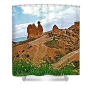 Camel In Camel Valley In Cappadocia-turkey Shower Curtain