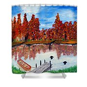 Camp Maple Shower Curtain