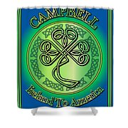 Campbell Ireland To America Shower Curtain
