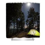 Camping On The Rim Shower Curtain