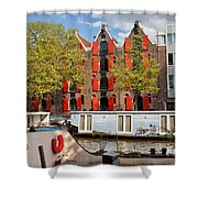 Canal In The City Of Amsterdam Shower Curtain