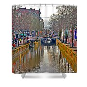 Canal Of Delft Shower Curtain