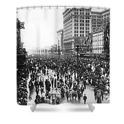Canal Street In New Orleans Shower Curtain