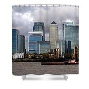 Canary Wharf Shower Curtain