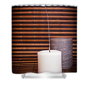 Candles And Bamboo Shower Curtain