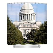 Capitol Building In Little Rock Shower Curtain