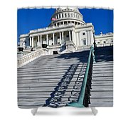 Capitol Hill Building In Washington Dc Shower Curtain