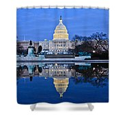 Capitol Reflecting Pool Shower Curtain