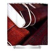 Captains Log Books Shower Curtain