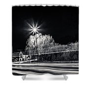 Car Light Trails Shower Curtain