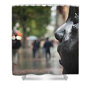 Carmen Awake Street Sculpture Shower Curtain