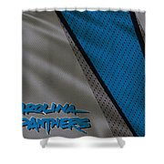 Carolina Panthers Uniform Shower Curtain